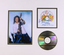 Brian May Autograph Signed CD Display - Queen